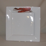 Lobster / Crawfish Square Charger Plate, 12 1/2