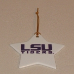 LSU Star Shape Ornament