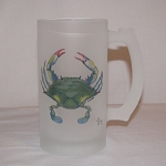 Blue Point Crab Beer Mug, 16oz.
