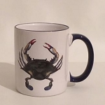Blue Point Crab Blue & White Coffee Mug