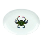 Blue Point Crab Oval Platter, 14 1/4