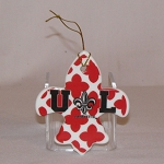 Louisiana Ragin' Cajun Ornament (fleur de lis)