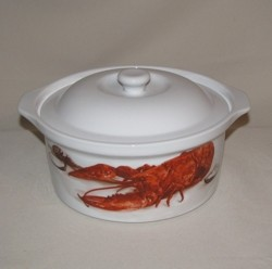 Lobster / Crawfish Round Casserole, 1 1/2qt.