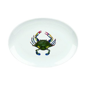 Blue Point Crab Oval Platter, 16 1/2""