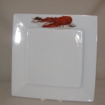 Lobster / Crawfish Square Plate, 10