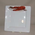 Lobster / Crawfish Square Plate, 7 3/8