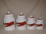 Lobster / Crawfish Canister Set, 4pc.