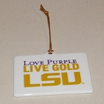 LSU Rectangular Shape Ornament