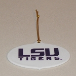 LSU Oval Shape Ornament