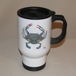 Blue Point Crab Travel Mug, 14oz.