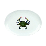 Blue Point Crab Oval Platter, 16 1/2