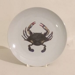 Blue Pont Crab Salad Plate, 7 3/4