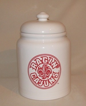 Ragin' Cajuns Cookie Jar